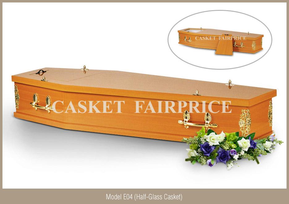 Casket Services - Casket Model E04 (Half-Glass)