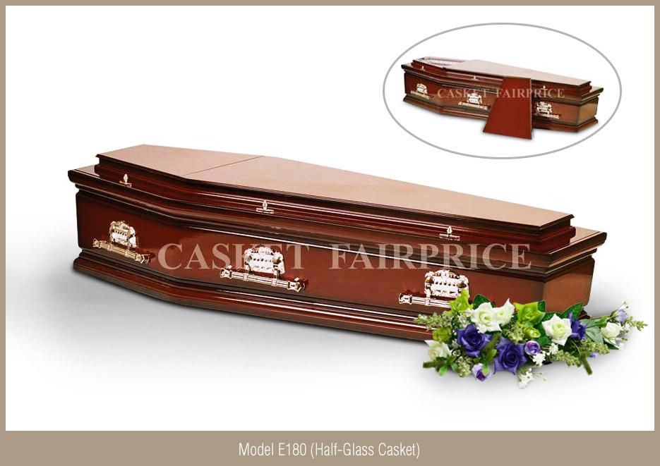 Casket Services - Casket Model E180 (Half-Glass)