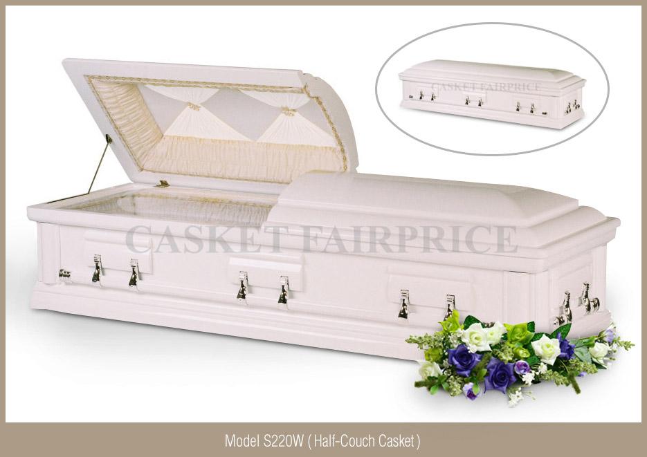 Casket Services - Casket Model S220W (Half-Couch)