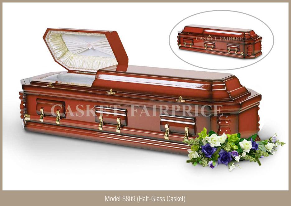 Casket Services - Casket Model S809 (Half-Glass)