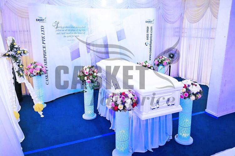 Premium full glass casket