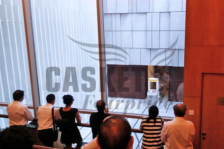 Mandai crematorium viewing hall