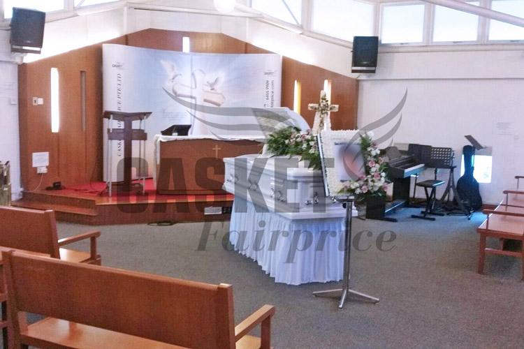 Christian memorial service at parlour