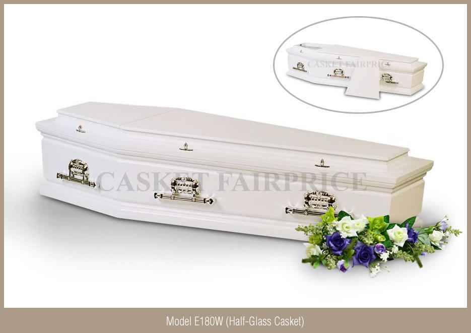Casket Services - Casket Model E180W (Half-Glass)