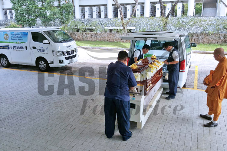 Buddhist funeral at Mandai Crematorium